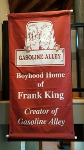 Tomah, home to Gasoline Alley creator Frank King banner