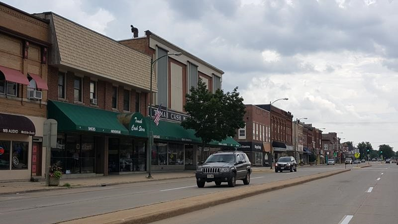 Downtown Tomah along U.S. 12 just north of Highway 16