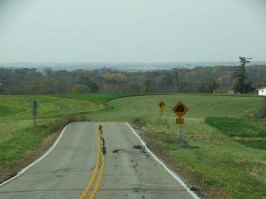 Highway 131 looking towards Steuben