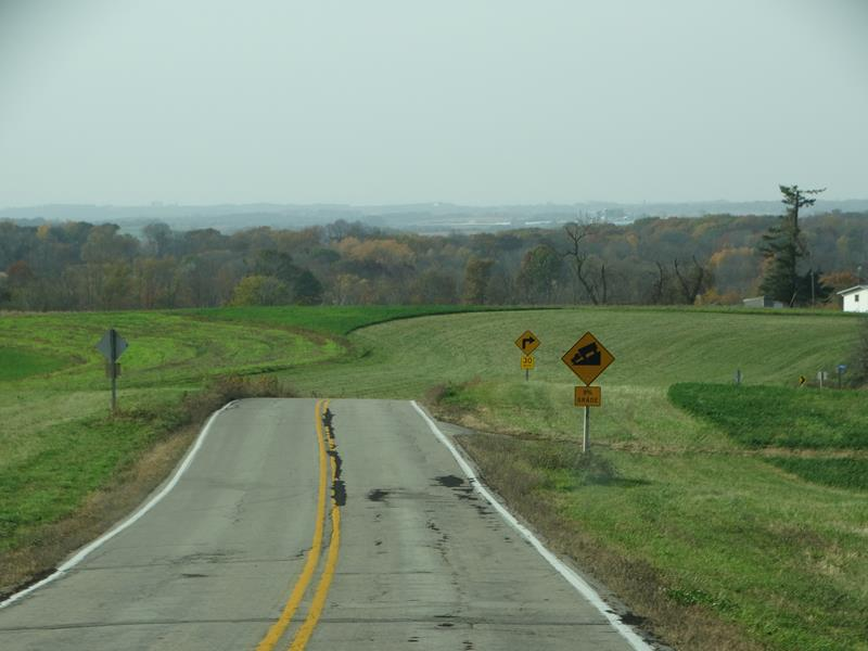Highway 131 looking towards Steuben