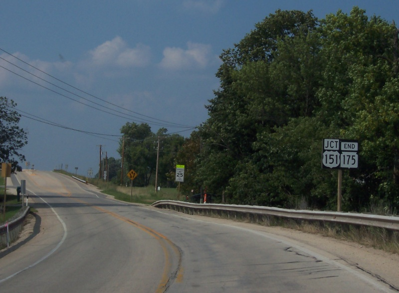 North end of Highway 175, approaching U.S. 151