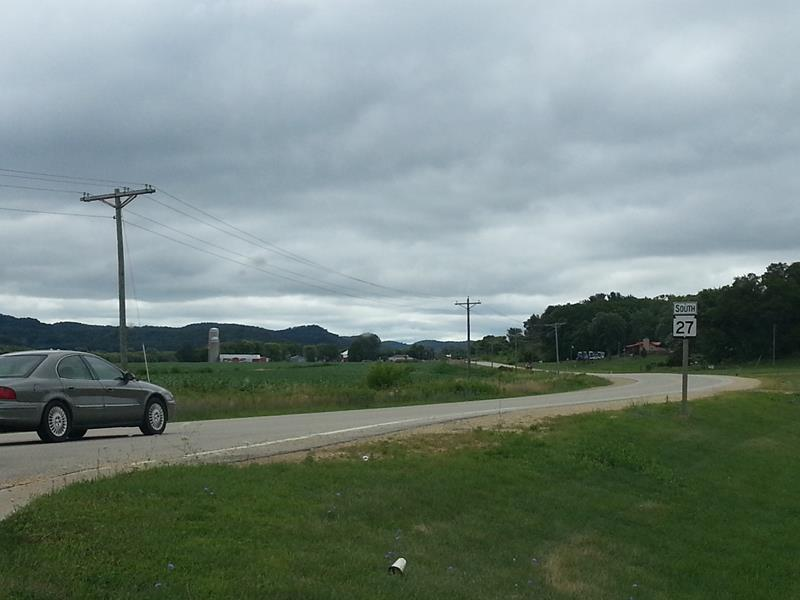 Highway 27 winding south of Sparta.