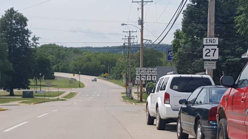 Highway 27 ends at U.S. 18 in Prairie du Chien