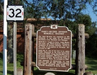 "The historical marker details Highway 32 as the ""Red Letter Highway"" in Pleasant Prairie (a similar marker is just inside the state line near 32's northern end)."