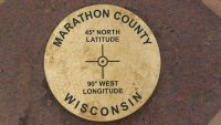 45x90 Marker at exact point, NW of Wausau