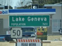 Highway 50 entering Lake Geneva