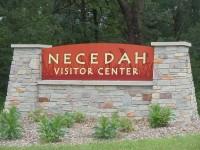 Necedah Visitor Center sign