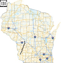 Highway 131 map