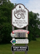 Burlington welcome sign