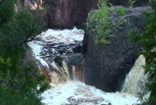 Copper Falls Fall Festival, view of Copper Falls