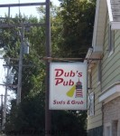 Dub's Pub Suds & Grub sign along Highway 55 in Wisconsin's Calumet County.