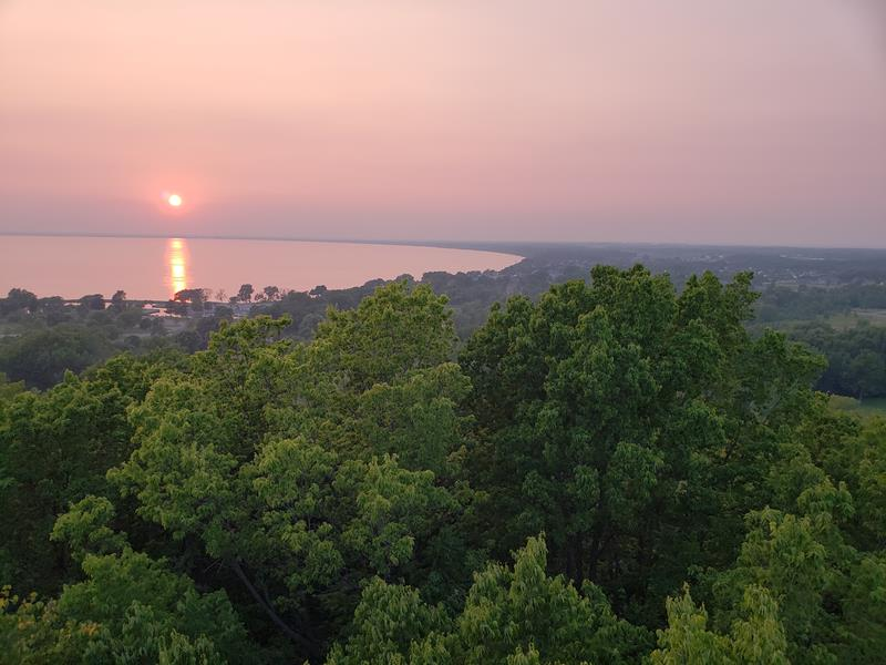 Sunset from High Cliff State Park