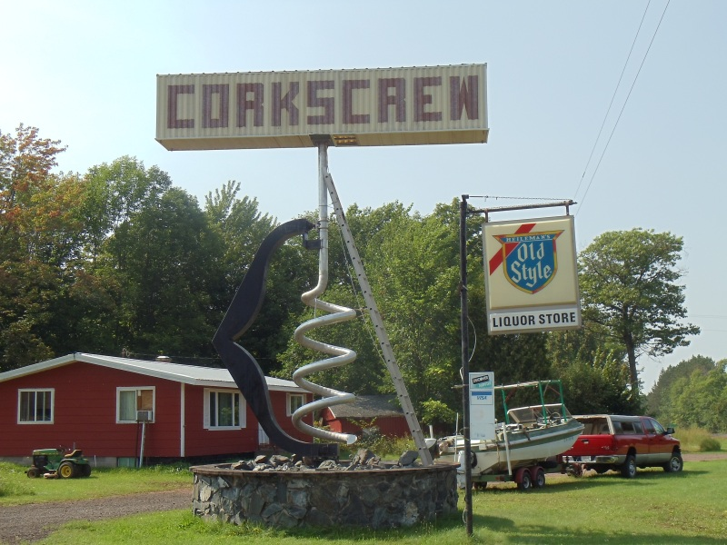 World's Largest Corkscrew along U.S. 2 in Hurley, Wisconsin