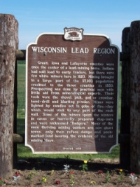 Historic marker, Lead Mining Region