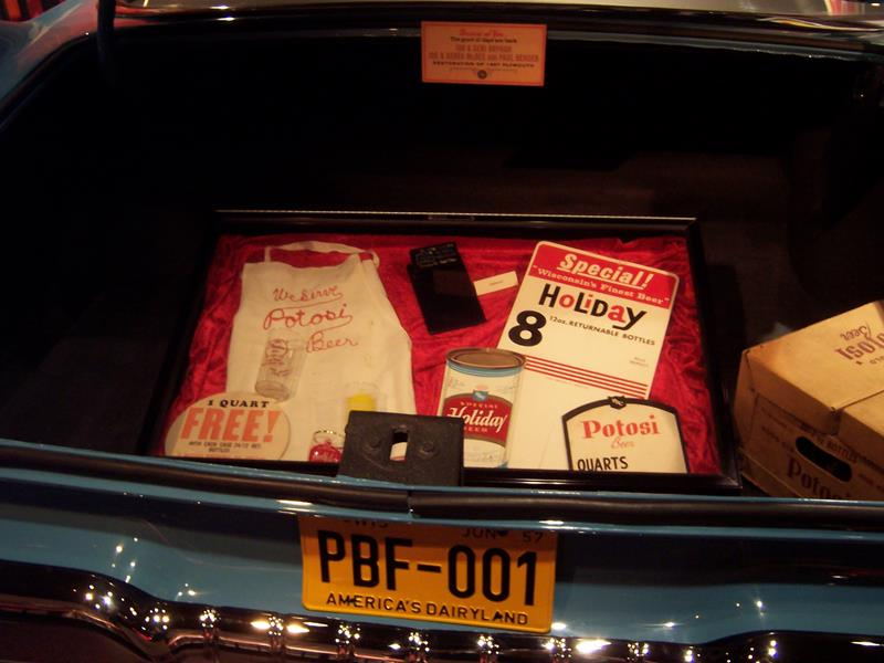 Potosi Brewing Company Transportation Museum - car trunk