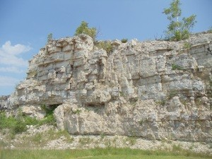 The stone at Old Stone Quarry Park is part of the Niagara Escarpment.
