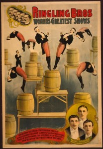Early Ringling Bros. poster