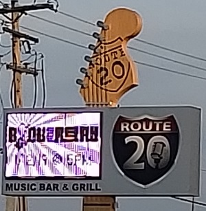 Route 20 Bar Sign along Highway 20 near I-41/94
