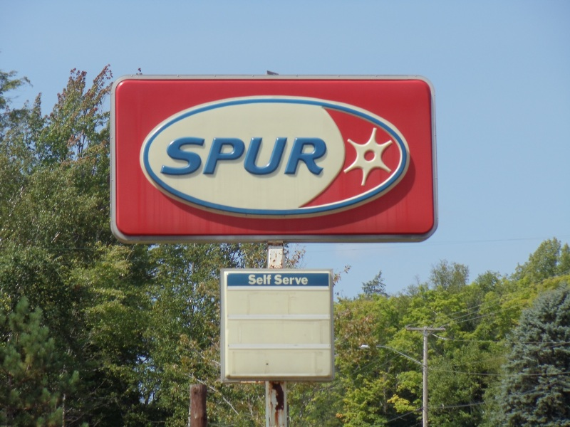 you donu0027t see many spur gas station signs in wisconsin so itu0027s worth a picture of this one between lac du flambeau and woodruff
