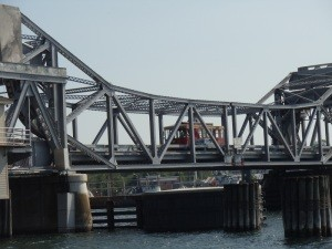 A trolley service can run you around Sturgeon Bay, using the original Michigan Street Bridge.