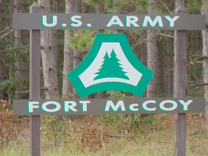 Highway 21 into Fort McCoy