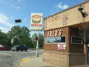 Fred's, one of the many places in the world laying claim to its best burger.
