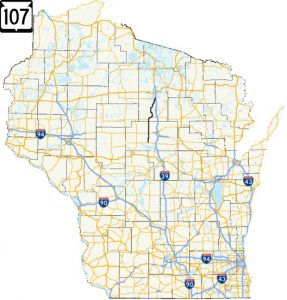 Highway 107 map