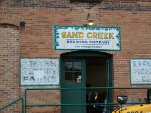Sand Creek Brewing with their new sign
