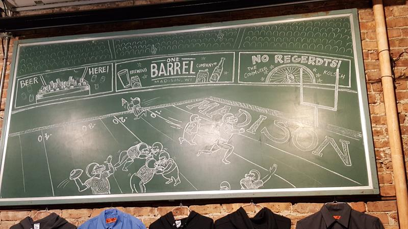 One Barrel Brewing chalkboard