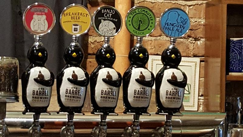 One Barrel Brewing taps, Madison