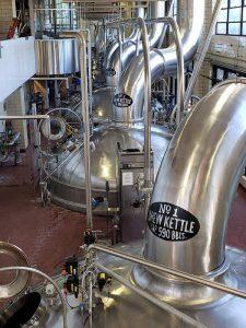 Miller Brewery Tour kettles