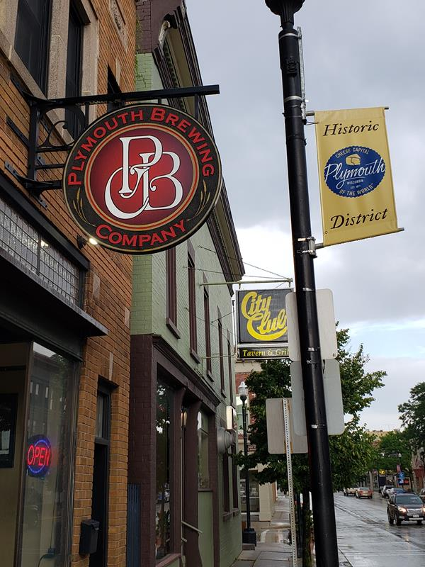 Plymouth Brewing Company along Mill Street in Plymouth, Wisconsin