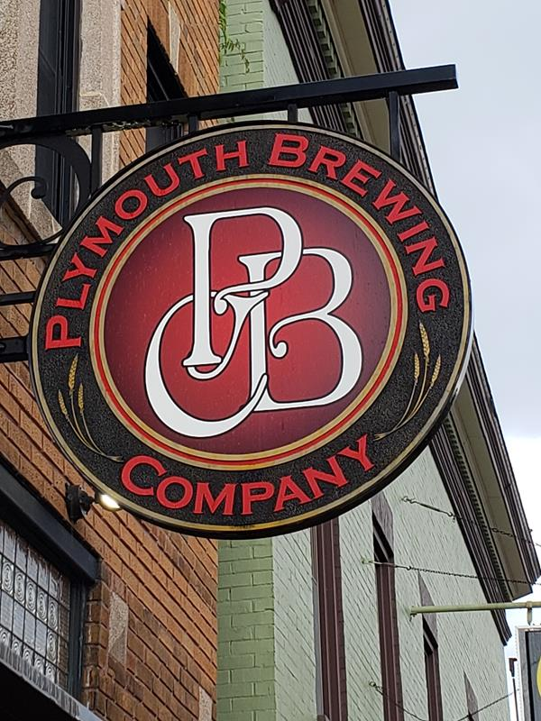 Plymouth Brewing Company sign
