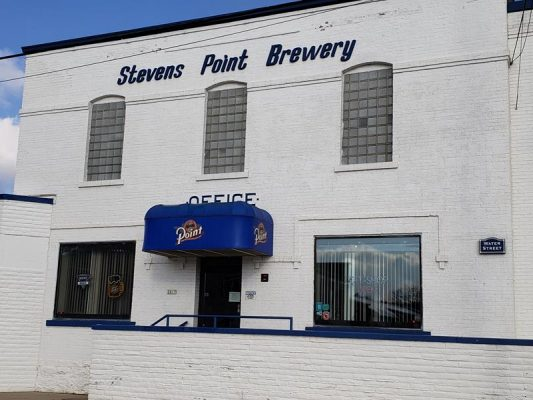 Stevens Point Brewery main entrance along Water Street