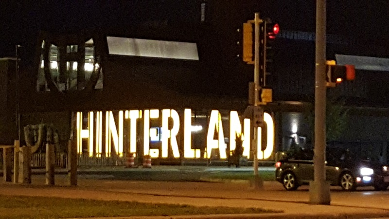 Hinterland Brewery at night