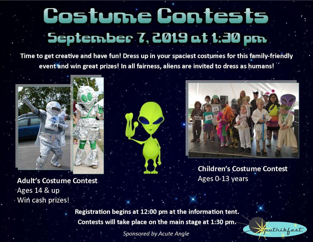 Sputnik Fest costume contest banner
