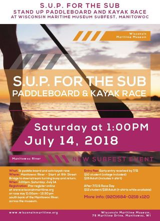 Manitowoc Subfest SUP for the Sub