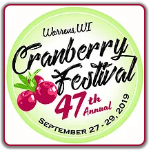 Warrens Cranberry Festival 2019 logo