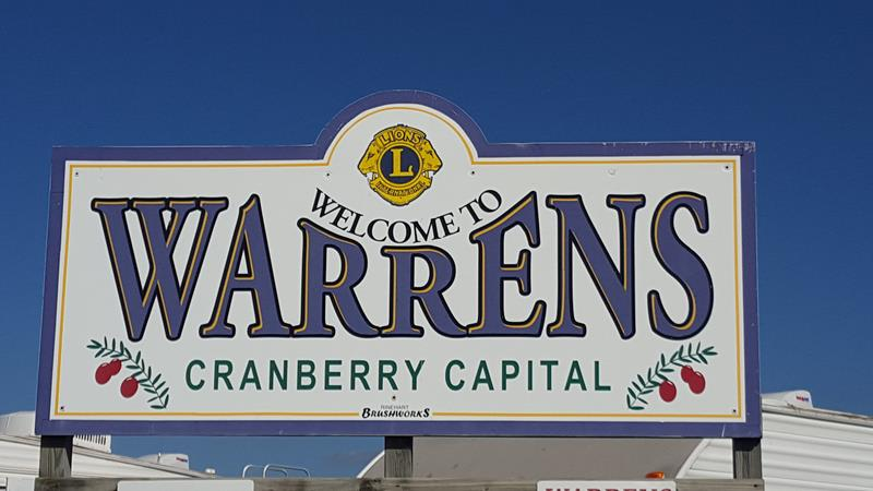 Warrens Cranberry Festival sign