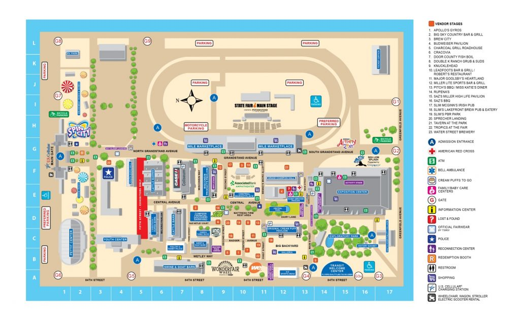 Wisconsin State Fair Map