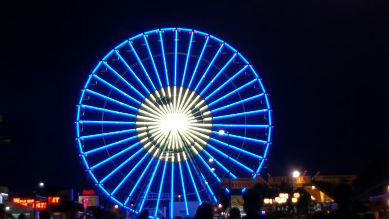 Wisconsin State Fair: Wheel at Night