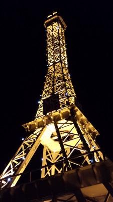 Bastille Days Eiffel Tower night