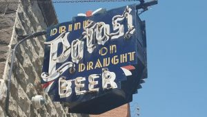 Potosi Brewing Company neon above entrance