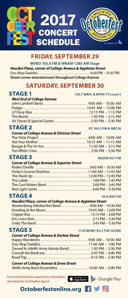 Appleton Octoberfest music lineup