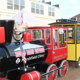 Central Wisconsin State Fair's Round Barn Express Train