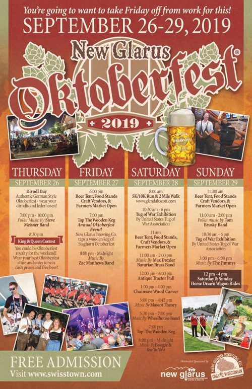 New Glarus Oktoberfest Schedule