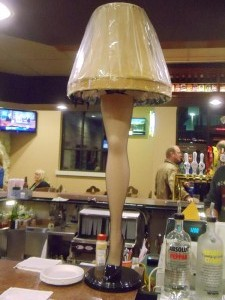 "Mars Cheese Castle's bar features a coveted ""leg lamp"""