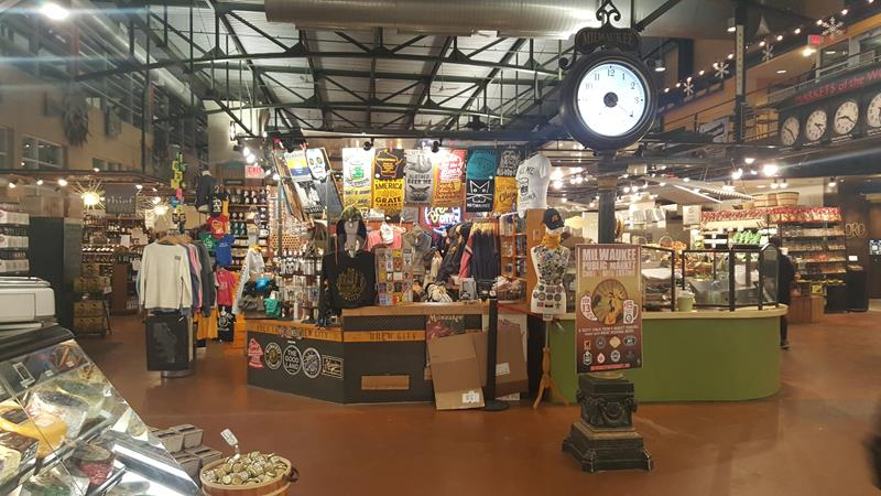 Milwaukee Public Market towards Brew City Beer Gear