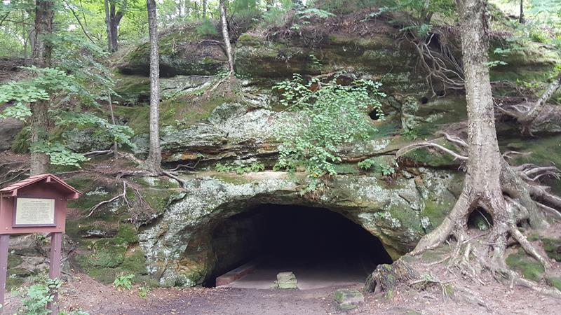 Cave in Irvine Park, Chippewa Falls