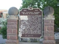 Historic Marker, First Teachers School in Wisconsin. Along Highway 52 in Wausau.